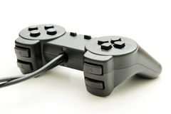 Modern joystick. For gaming on a white background stock image
