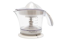 Modern juice extractor. On a white background Stock Photos