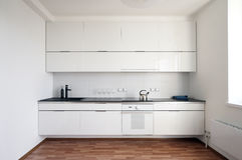 Modern kökinterior Fotografering för Bildbyråer