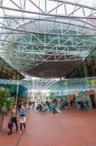 Modern köpcentrum Spazio i Zoetermeer, Nederländerna Fotografering för Bildbyråer