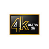 Modern 4K icon Stock Photo