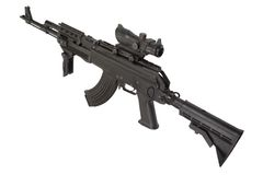 Modern Kalashnikov AK47 med Arkivfoto