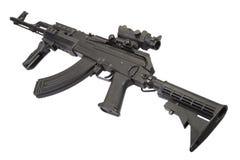 Modern Kalashnikov AK47 med tillbehör Arkivfoton