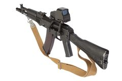 modern kalashnikov assault rifle Royalty Free Stock Photography