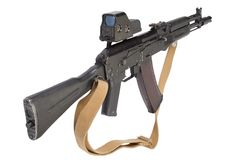 Modern kalashnikov assault rifle Stock Image