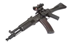 Modern kalashnikov assault rifle Royalty Free Stock Photo