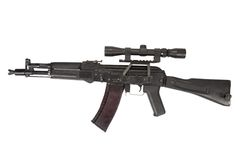Modern kalashnikov assault rifle Royalty Free Stock Images