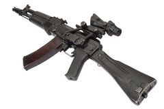 Modern kalashnikov assault rifle Stock Images