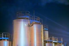 Modern kemisk produktion royaltyfria bilder