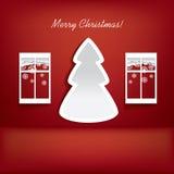 Modern Kerstboomontwerp Stock Illustratie