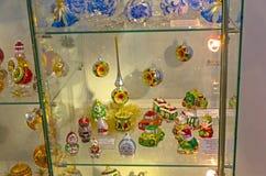 Modern Kerstmisspeelgoed Stock Afbeeldingen