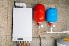 Modern ketelruim onafhankelijk verwarmingssysteem stock foto
