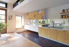 Modern keukenbinnenland vector illustratie
