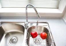 Modern keukenbinnenland Royalty-vrije Stock Afbeeldingen