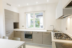 Modern keukenbinnenland Royalty-vrije Stock Afbeelding