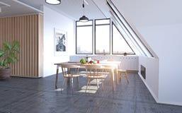 Modern keukenontwerp Royalty-vrije Stock Afbeelding