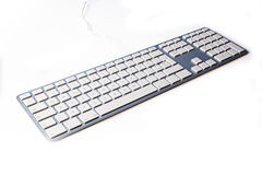 The modern and keyboard for a computer Royalty Free Stock Photo