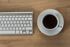 Modern keyboard on a desktop Stock Photo