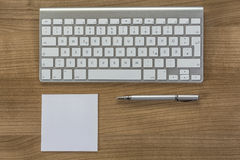 Modern keyboard on a desktop Stock Images