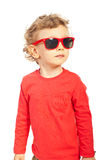 Modern kid boy with sunglasses Royalty Free Stock Image