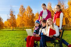 Modern kids Royalty Free Stock Photos