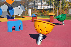 Modern kids playground Royalty Free Stock Photo