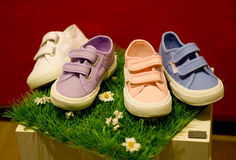 Modern kids shoes Royalty Free Stock Images