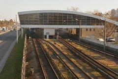 Modern Kiev Metro station Darnitsa stock photography