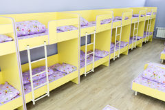 Modern kindergarten bedroom with small beds Royalty Free Stock Photography