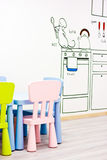 Modern kindergarten Stock Images