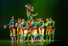 modern kinesisk dans Fotografering för Bildbyråer