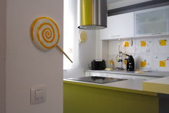Modern kitchen. Modern house and kitchen nice decorated royalty free stock images