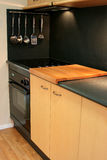 Modern Kitchen 2. Modern kitchen with stove and utensils royalty free stock photos