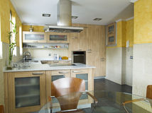 Modern kitchen. Nice modern kitchen in spain Royalty Free Stock Photography