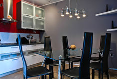 Modern kitchen. A clean modern kitchen interior Stock Photo