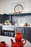 Modern kitchen. Interior of a modern kitchen-close up stock image