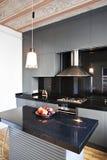 Modern kitchen. A beautiful interior of a modern kitchen- close up stock photos