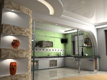 The modern kitchen Royalty Free Stock Photos