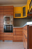 Modern kitchen. Small modern kitchen in a flat royalty free stock photography