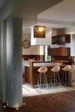 Modern Kitchen. In luxury apartment Royalty Free Stock Photos