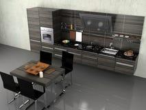 The modern kitchen Stock Photos