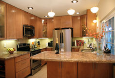 Modern kitchen. Kitchen interior Royalty Free Stock Image