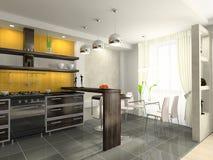 Modern kitchen. Interior of the modern kitchen Stock Photo