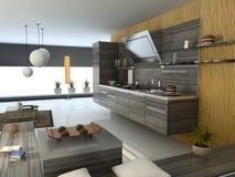 The modern kitchen. The modern apartment (kitchen detail view) 3D Stock Photo