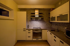 Modern kitchen. Interior with appliances Stock Image