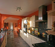 Modern Kitchen. A view of the interiors of a modern kitchen in a luxurious house Stock Photography