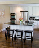 Modern Kitchen. Full View Of A Modern Interior Kitchen Royalty Free Stock Image