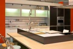 Modern kitchen angle Royalty Free Stock Photos
