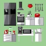 Modern kitchen appliances set. Vector illustration Stock Images