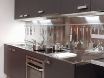 Modern Kitchen Architecture 04 Stock Photo
